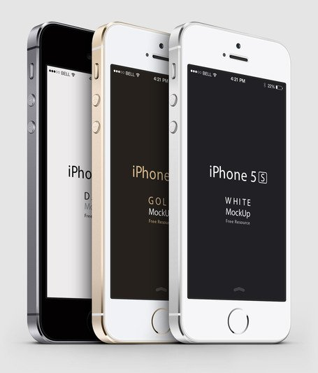 Iphone 5s mockup clipart freeuse Free 3-4 iPhone 5S Psd Vector Mockups Clipart and Vector ... freeuse