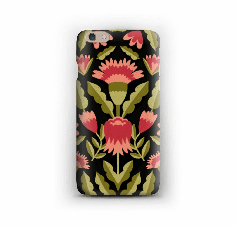 Iphone 6 plus clipart image black and white Pretty Flowers Case Iphone 6 Plus - Iphone Free PNG Images ... black and white