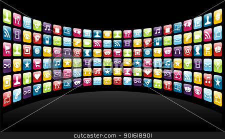 Iphone app clipart size picture freeuse Iphone app icons background stock vector picture freeuse