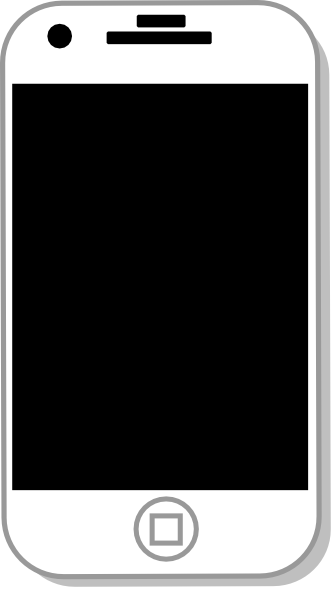 Iphone clipart black and white clip freeuse download White iphone clip art at vector clip art png - Cliparting.com clip freeuse download