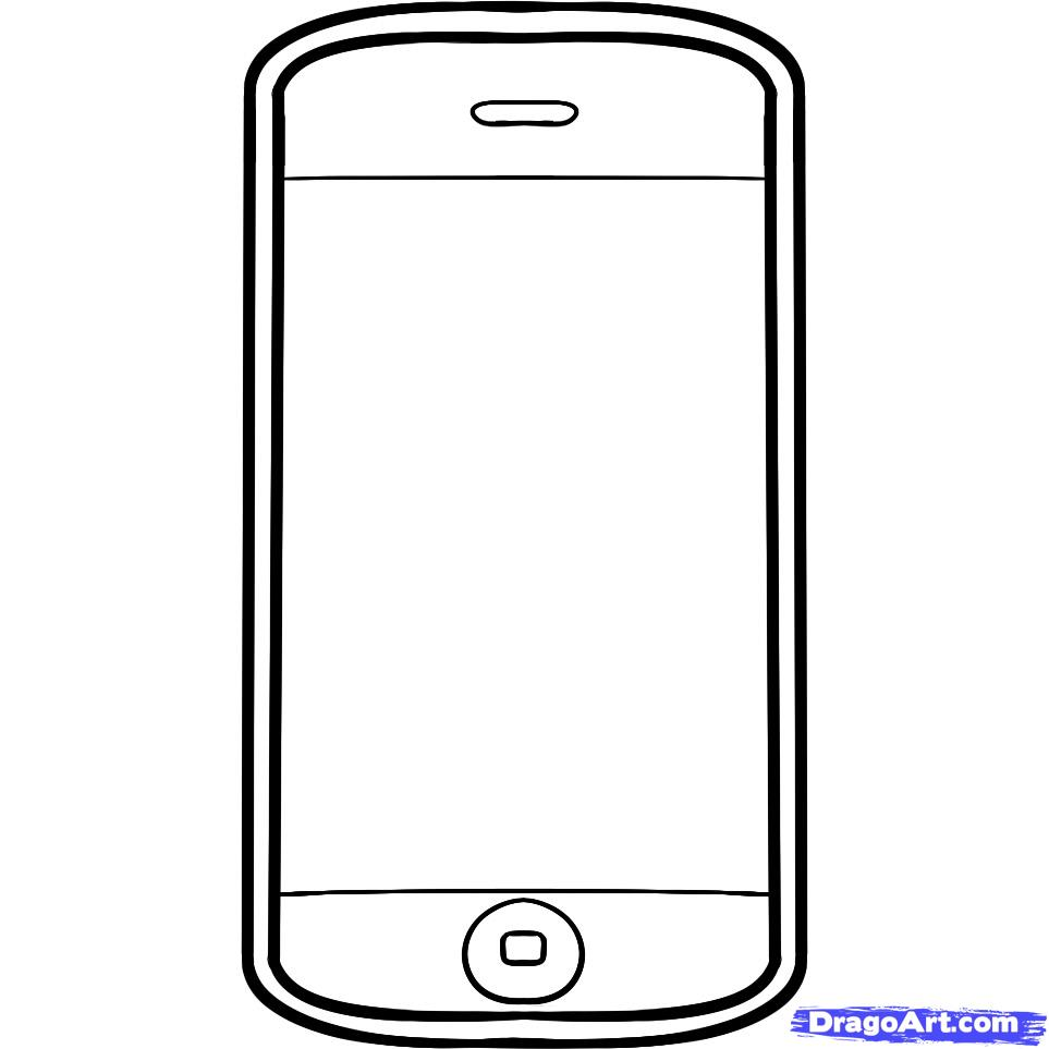 Iphone 7 clipart template image black and white Iphone clipart black and white » Clipart Station image black and white