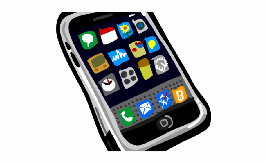 Iphone clipart icons clip royalty free Apple Iphone Clipart Outline - Iphone Icon, Transparent Png ... clip royalty free