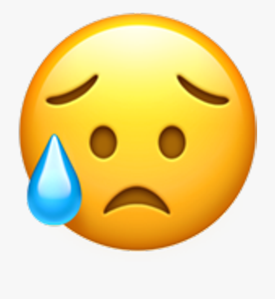Iphone emoji faces clipart clip library Iphone Emoji Clipart - Sad But Relieved Face #218535 - Free ... clip library