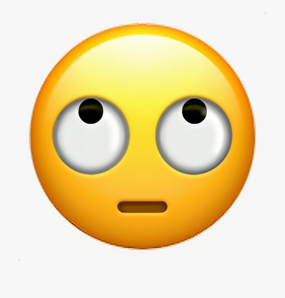 Iphone emoji faces clipart clip art black and white Iphone Roll Eye Emoji , Transparent Cartoon, Free Cliparts ... clip art black and white