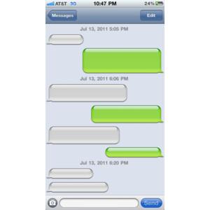 Iphone text message clipart png transparent download Social Media Templates - Polyvore png transparent download