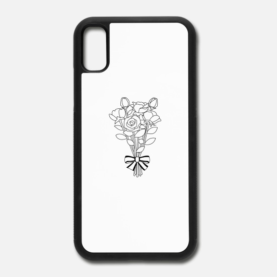 Iphone x clipart image picture freeuse library bouquet clipart outline flower 12 iPhone X/XS Case - white/black picture freeuse library