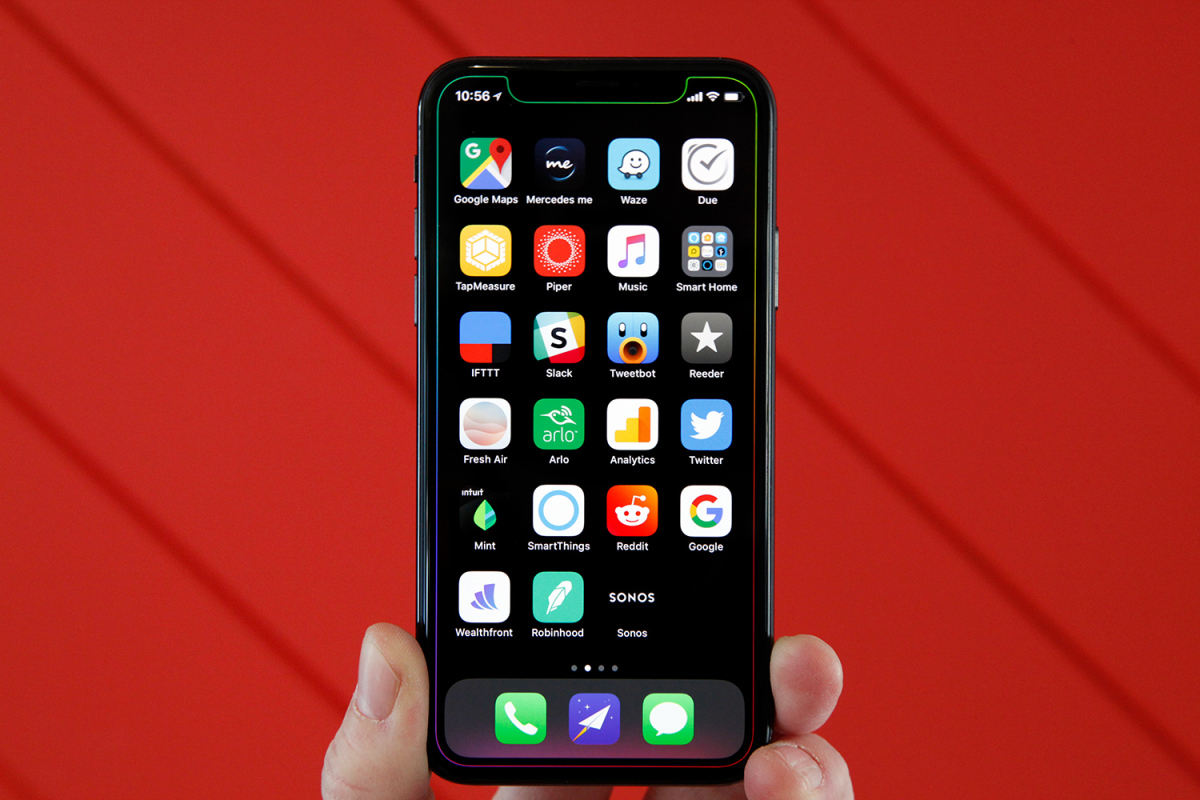 Iphone x dock clipart banner transparent library The perfect way to show off the notch on your iPhone X – BGR banner transparent library