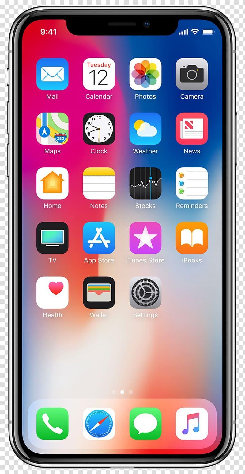 Iphone x logo clipart free IPhone X IPhone 8 Plus iPhone 7, apple iphone transparent ... free