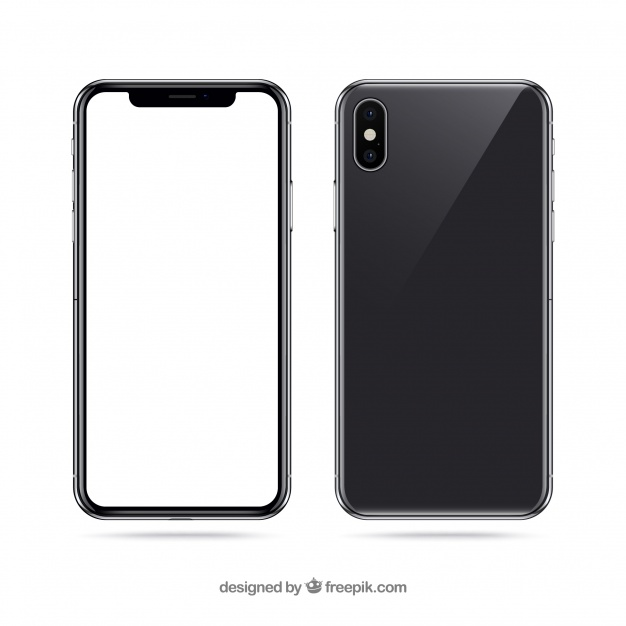 Iphone x vector clipart graphic free library Iphone x with white screen Vector | Free Download graphic free library