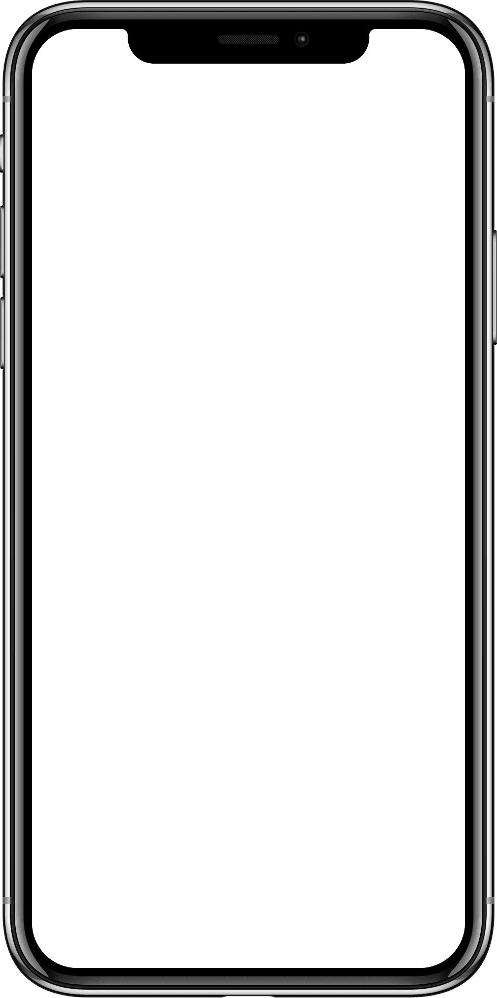 Iphone x vector clipart image black and white stock Blank Iphone Png - Svg Iphone X Vector Clipart - Full Size ... image black and white stock