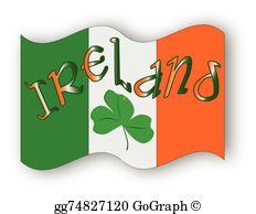 Ireland flag clipart jpg royalty free Irish Flag Clip Art - Royalty Free - GoGraph jpg royalty free