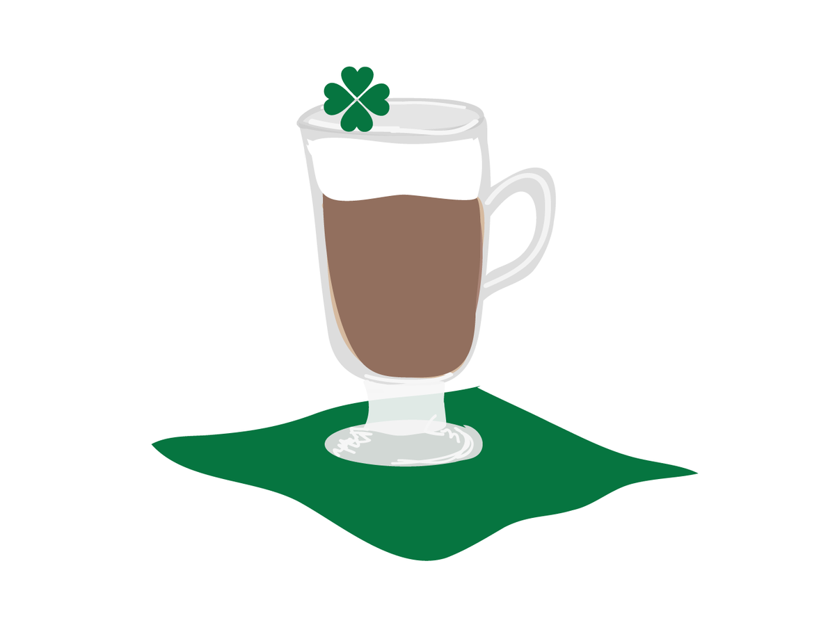 Irish coffee clipart png black and white download Irish Coffee Recipe | Real Simple png black and white download