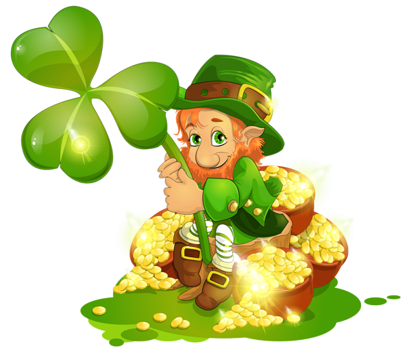 Irish crown clipart vector free download Saint Patrick's Day Leprechaun with Pot of Gold and Shamrock PNG ... vector free download