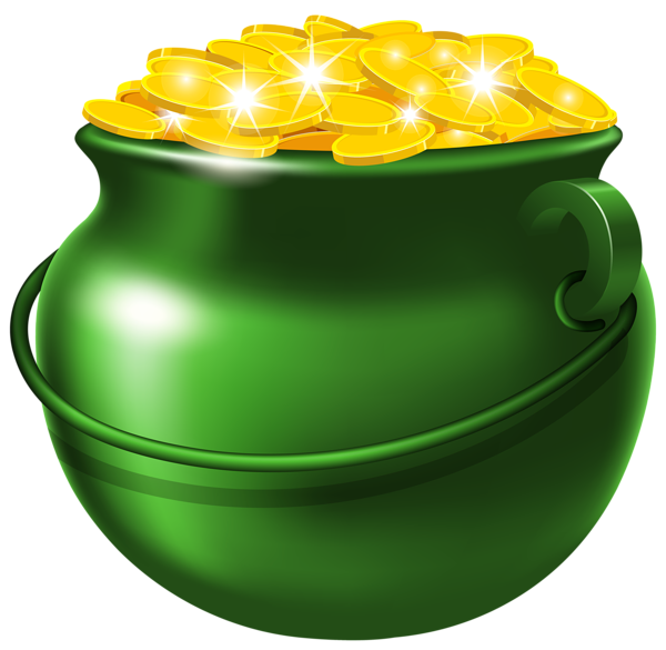 Irish crown clipart png transparent stock Green Pot of Gold PNG Clipart Image | St. Patrick's clip | Pinterest ... png transparent stock
