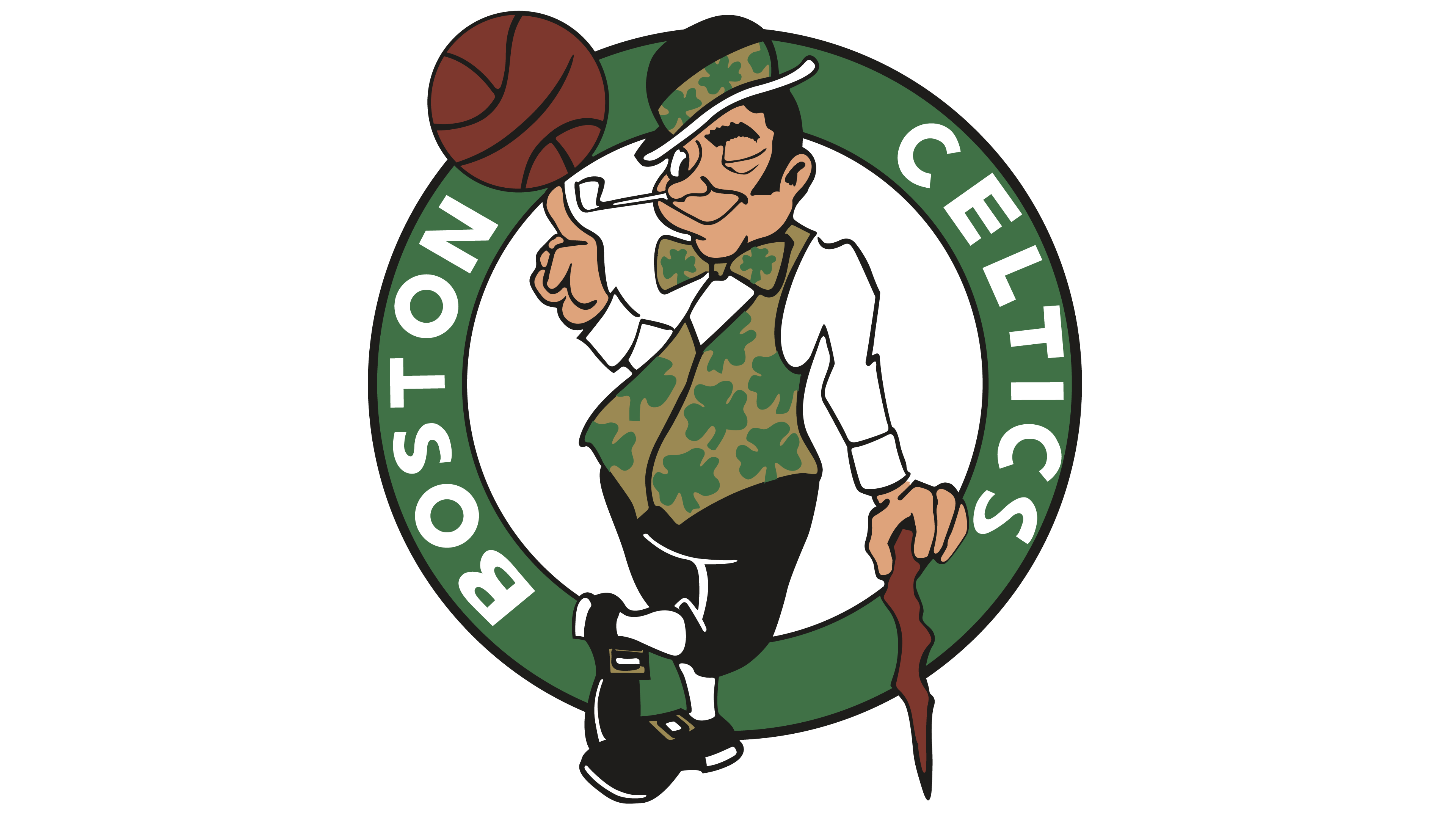 Irish playing basketball clipart clipart freeuse library Boston Celtics Logo - Interesting History of the Team Name and emblem clipart freeuse library