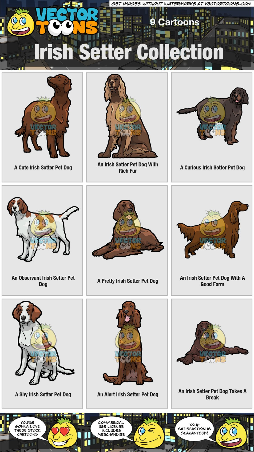 Irish setter clipart clip art transparent Irish Setter Collection clip art transparent