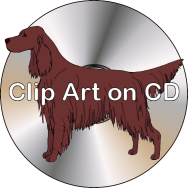 Irish setter clipart vector royalty free Clip Art on CD - Irish Setter Clipart Sampler — Argostar Dog Art vector royalty free