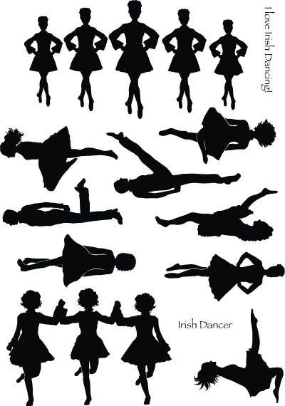 Irish step dancing clipart svg library library Pics For > Irish Dance Leap Silhouette   dances in 2019 ... svg library library