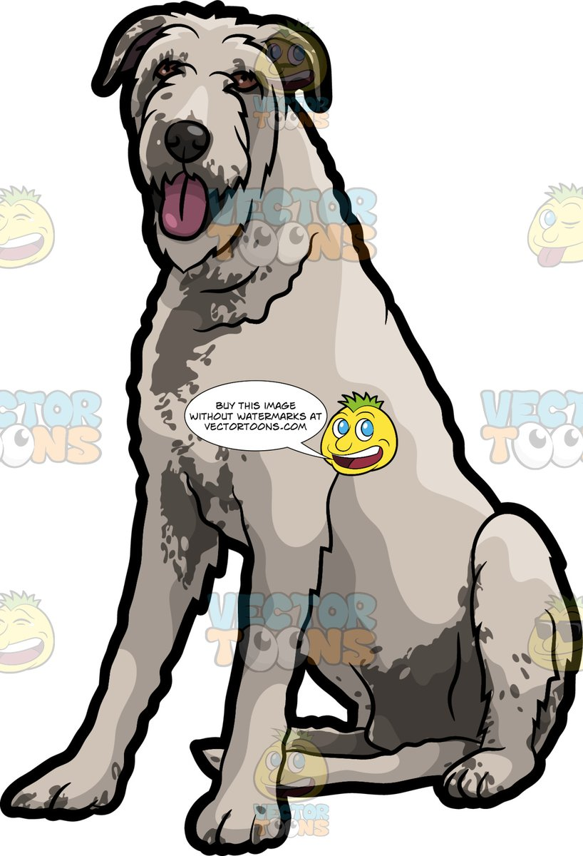 Irish wolfhound clipart image library stock An Adorable Irish Wolfhound Pet Dog image library stock