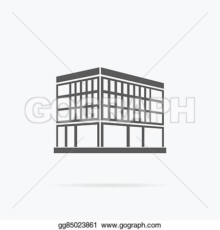 Iron building logo clipart banner black and white Vector Stock - Skyscrapers house building icon. Stock Clip Art ... banner black and white