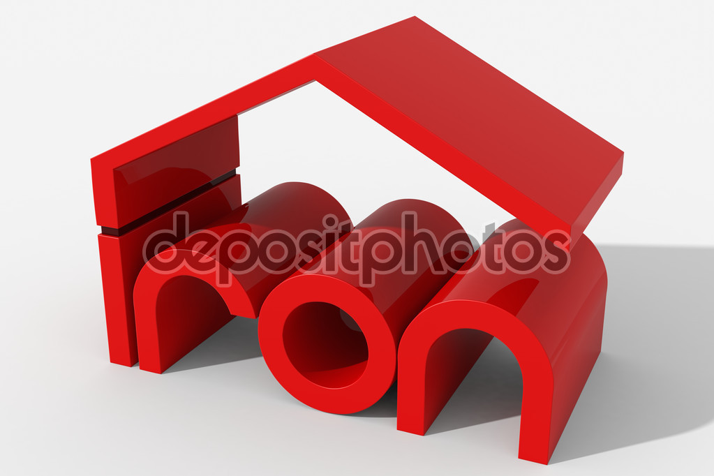 Iron building logo clipart vector free Logo 3D shape with iron building — Stock Photo © albasu #72391949 vector free