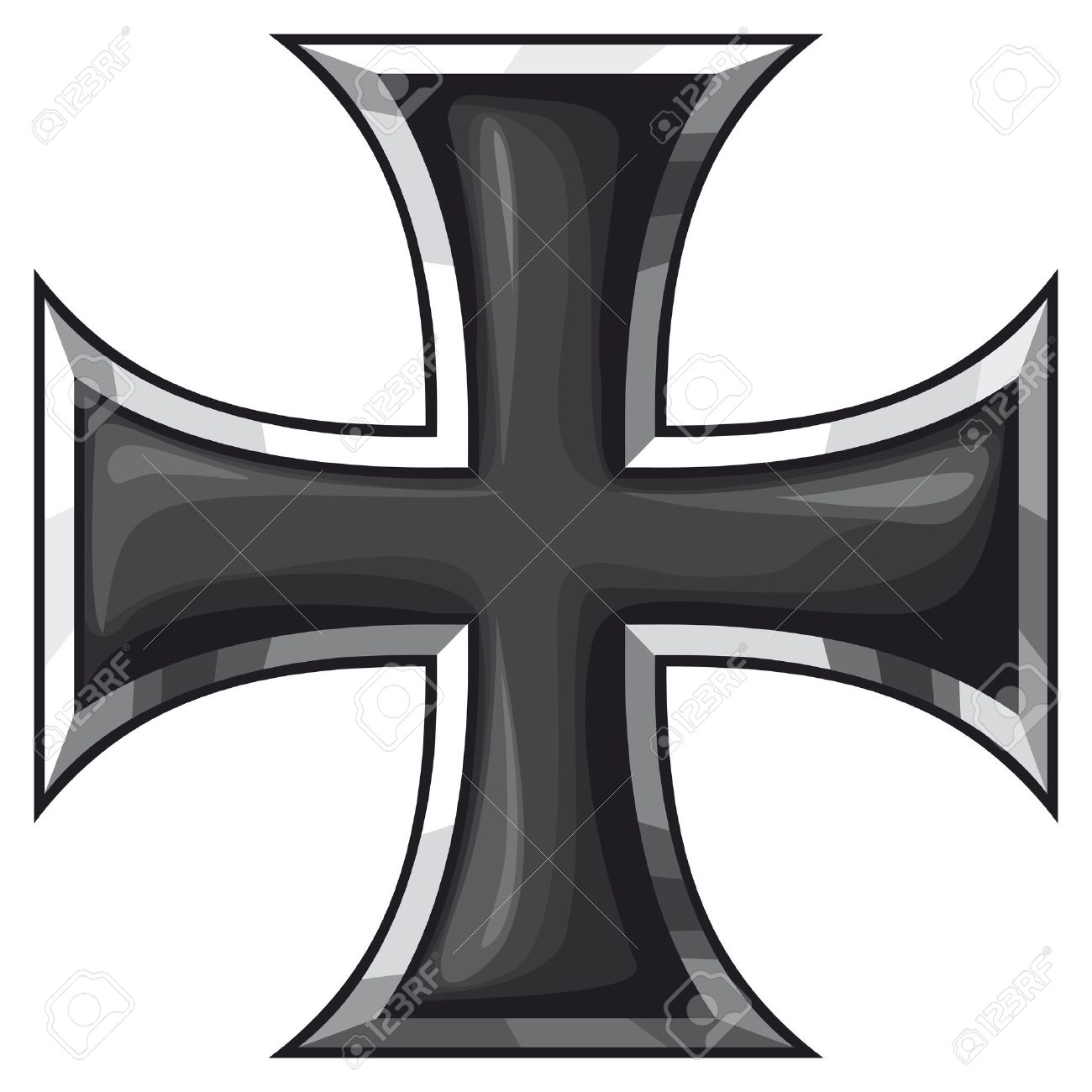 Iron cross vector clipart image freeuse library Iron Cross Vector 8 - 1300 X 1300 - Making-The-Web.com image freeuse library