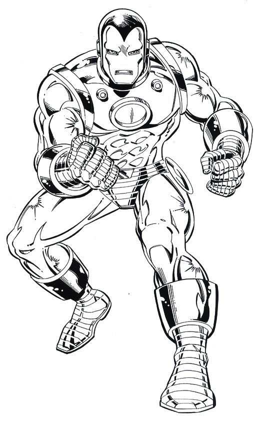 Iron man clipart black and white
