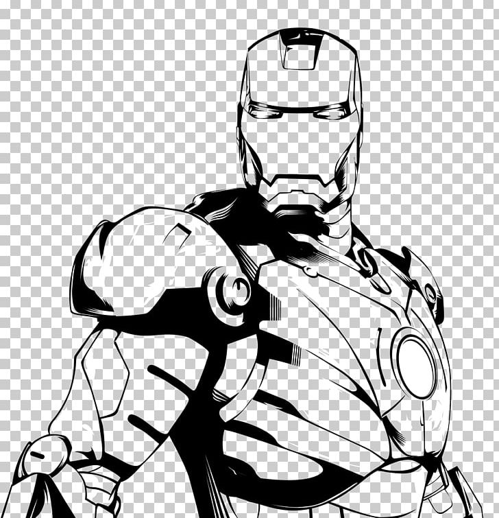 Iron man clipart black and white svg stock Iron Man Black And White Drawing Line Art PNG, Clipart, Arm ... svg stock