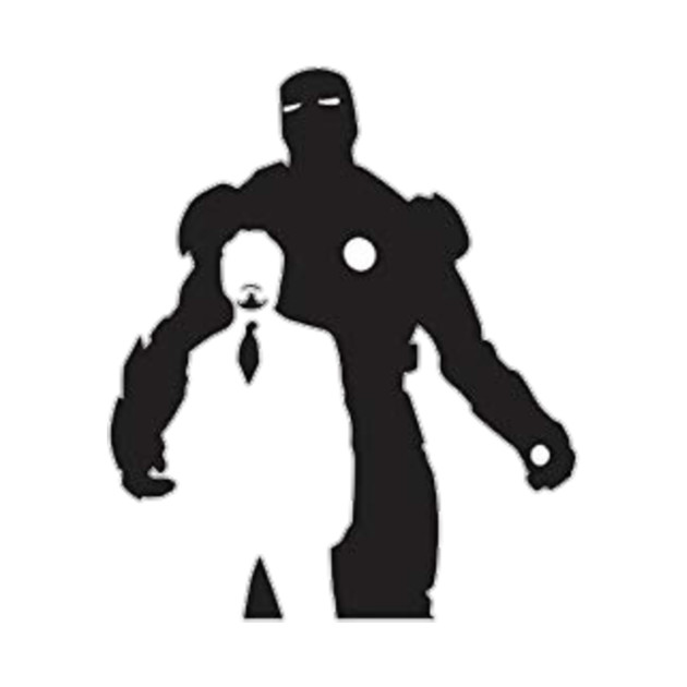 Iron man clipart blackand white for tshirt clip art free library Tony Stark and Ironman Silhouettes clip art free library