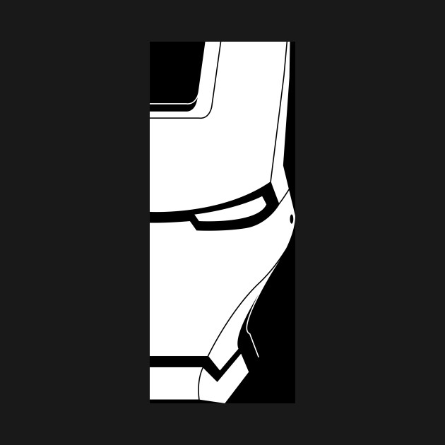 Iron man clipart blackand white for tshirt clip royalty free Black&White Iron Man clip royalty free