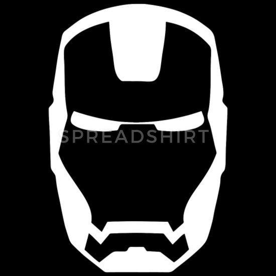 Iron man clipart blackand white for tshirt vector free download IRON MAN MASK Men\'s Ringer T-Shirt - black/white vector free download