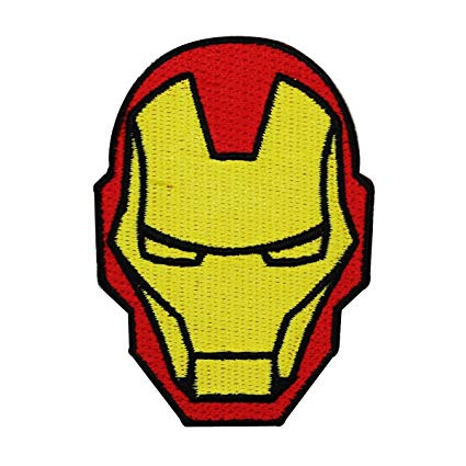 Iron man helmet clipart banner free Amazon.com: Iron Man Helmet IronOn Patch Marvel Comic Superhero DIY ... banner free