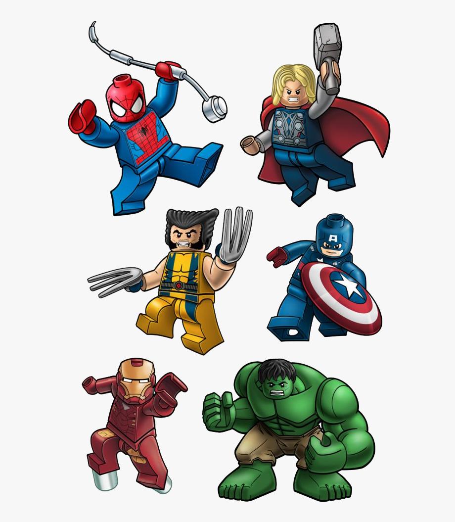Iron man lego clipart clip download Spiderman Thor Wolverine Ironman Hulk Captainamerica - Lego Marvel ... clip download