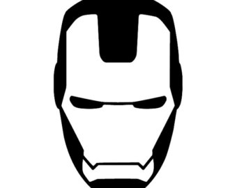 Iron man logo black and white clipart png library download Iron man v captain america logo black and white clipart - ClipartFest png library download