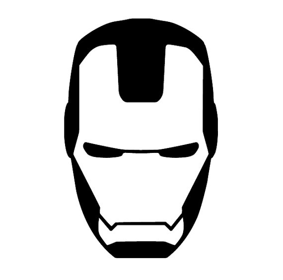 Iron man logo black and white clipart clip art black and white Iron man clipart black and white - ClipartFox clip art black and white