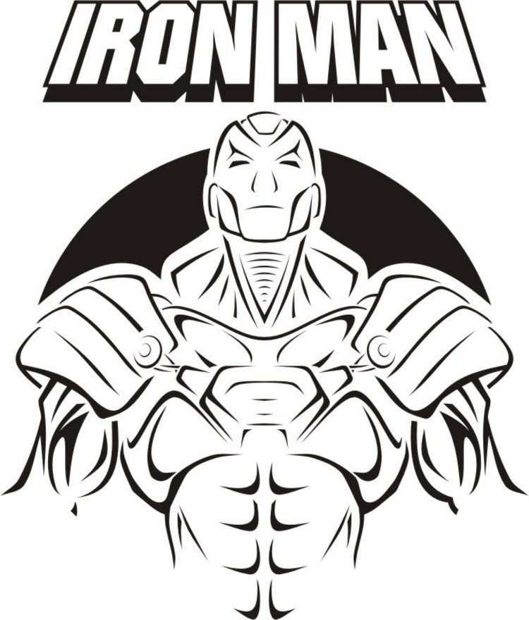 Iron man logo black and white clipart clip royalty free download iron man superhero coloring pages printable has iron man coloring ... clip royalty free download