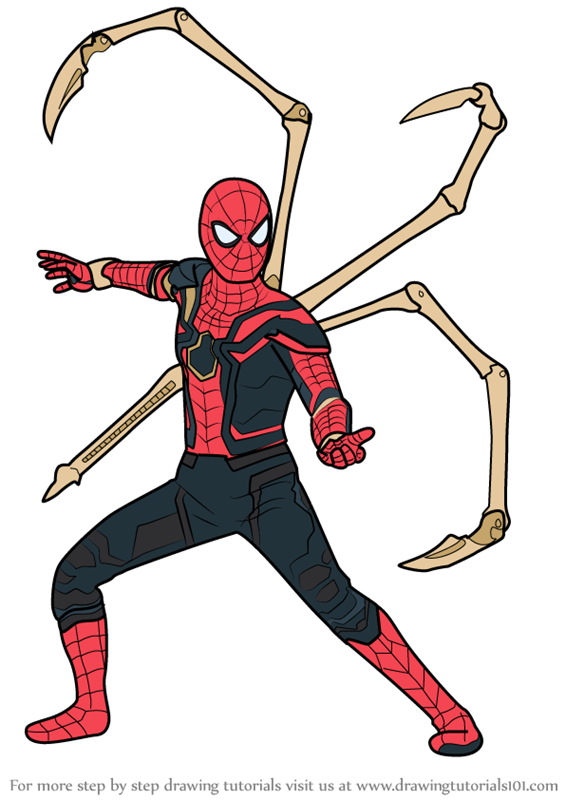 Iron spider infinity war clipart image royalty free stock Learn How to Draw Iron Spider from Avengers - Infinity War (Avengers ... image royalty free stock