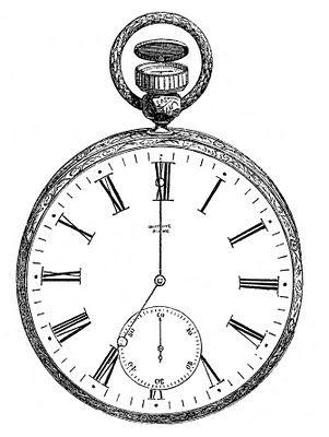 Irrelevant clipart clipart transparent stock Vintage Clip Art - Antique Pocket Watch | pocket watches and tobacco ... clipart transparent stock