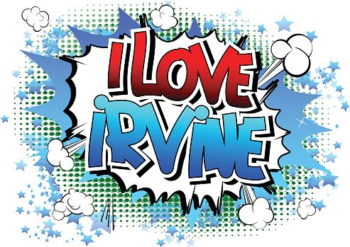 Irvine clipart graphic I Love Irvine Comic Book Style premium clipart - ClipartLogo.com graphic