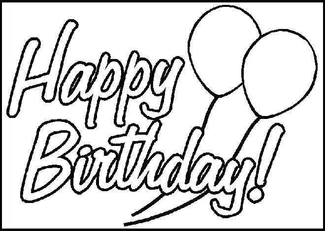 Is there clipart in pages vector black and white download Happy Birthday Coloring Pages 2019 Happy Birthday Images, Pictures ... vector black and white download