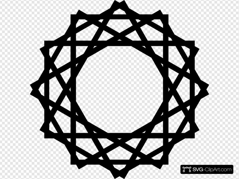 Islamic art clipart image black and white stock Islamic Art Clip art, Icon and SVG - SVG Clipart image black and white stock