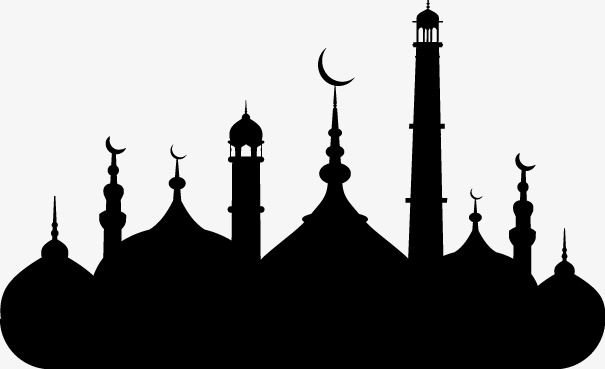 Islamic mosque clipart graphic freeuse Islamic Mosque Silhouette Vector Material, Islam, Mosque, Sketch PNG ... graphic freeuse