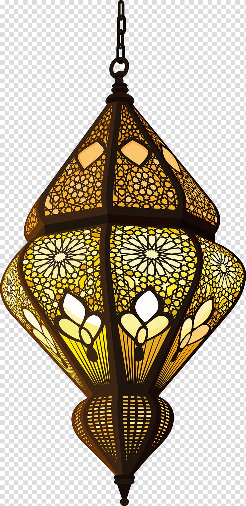 Islamicdecorations clipart svg free library Quran Islam Allah Sufism Muslim, Islam decorative lamp, yellow and ... svg free library