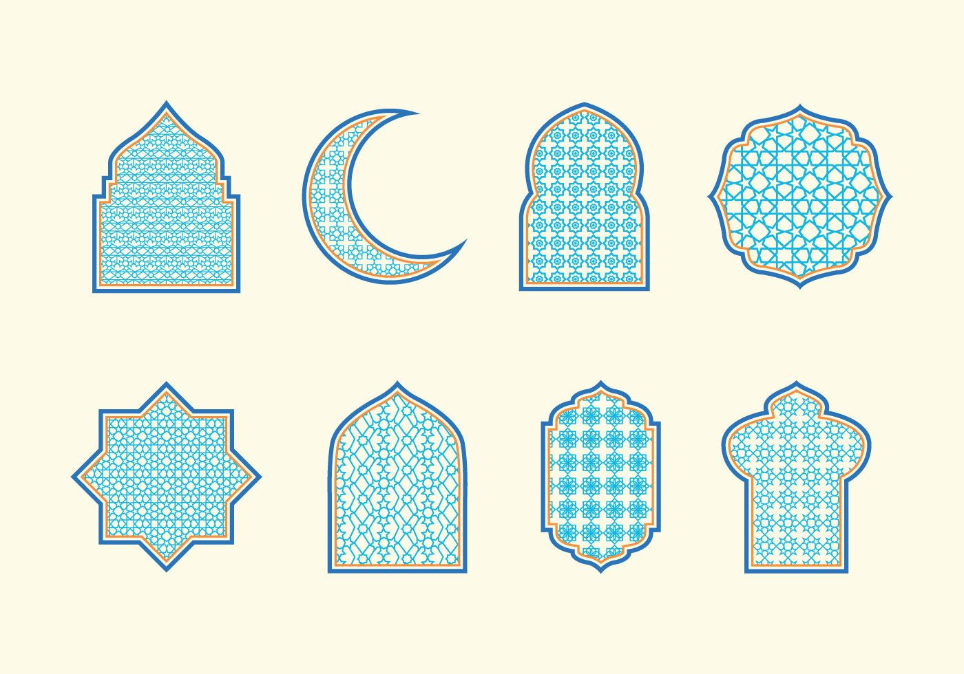 Islamicdecorations clipart image free download Islamic Ornaments Vector | Islamic Art/Ceramics | Free vector art ... image free download