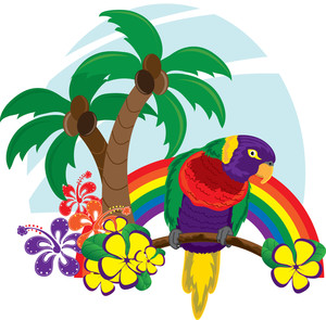 Island bird clipart image royalty free stock Free Hawaii Clipart Image 0515-1102-0914-3317 | image royalty free stock