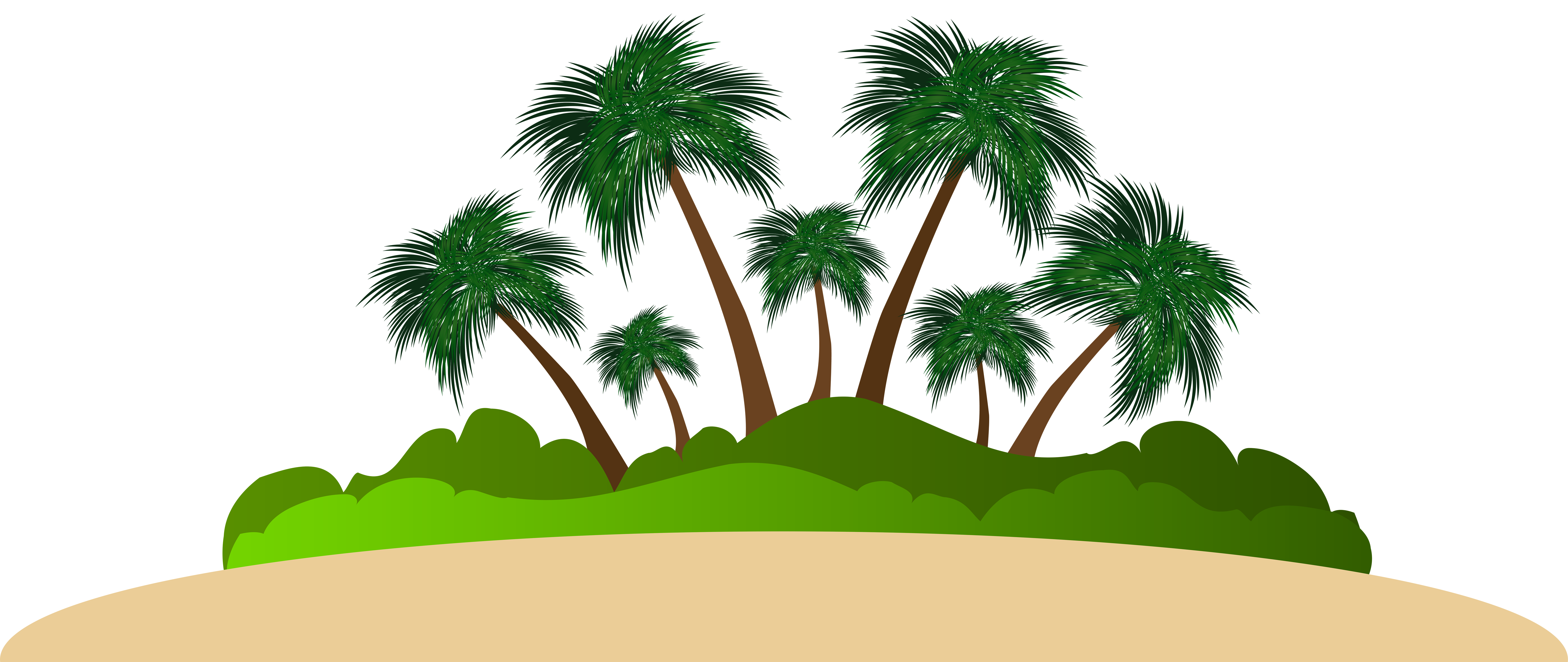 Island palm tree clipart svg download Palm Island PNG Clip Art Image svg download