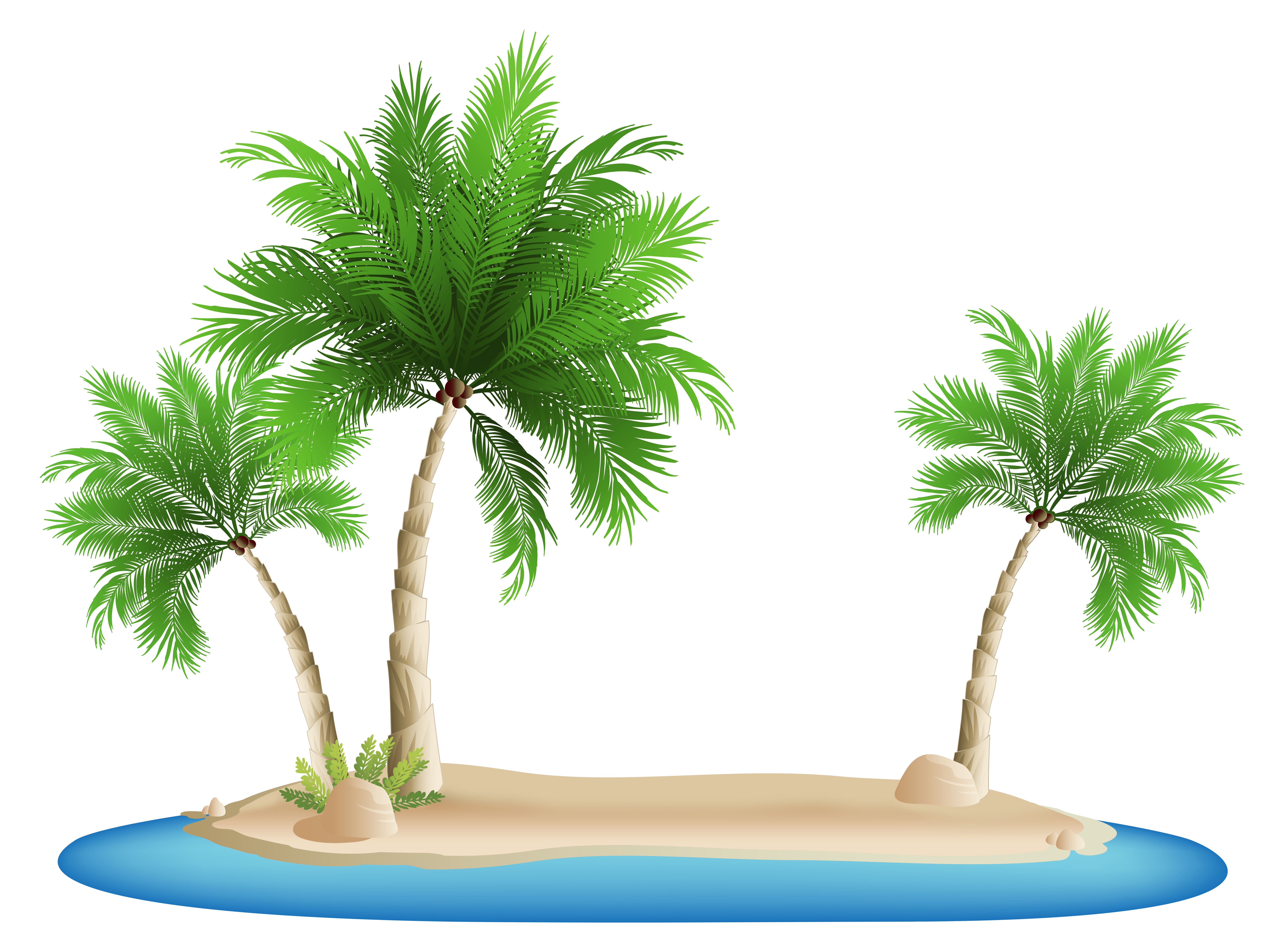 Island palm tree clipart clipart freeuse stock Palm Trees Island PNG Clipart Image clipart freeuse stock