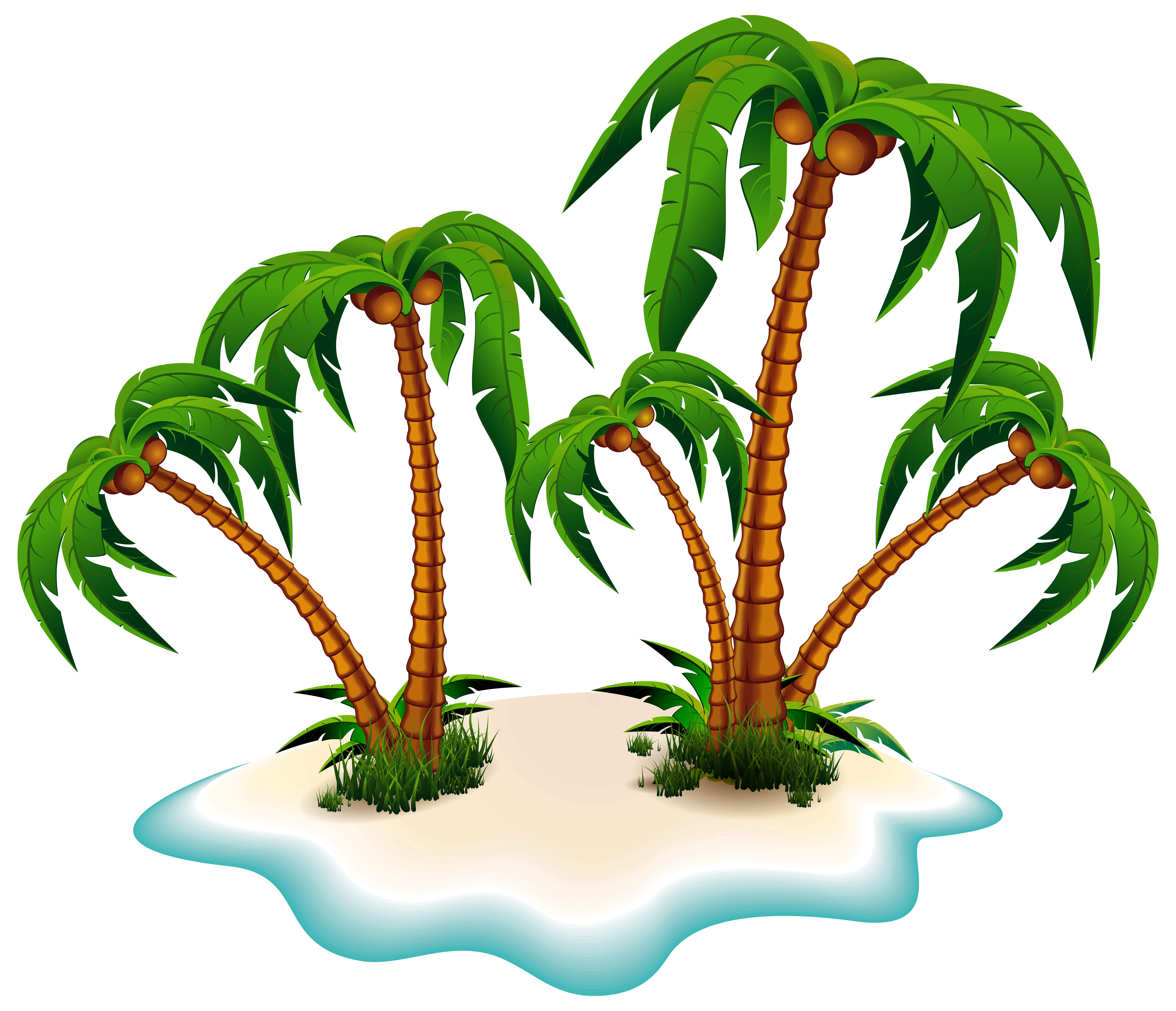 Island palm tree clipart banner black and white stock Island.png - ClipArt Best banner black and white stock