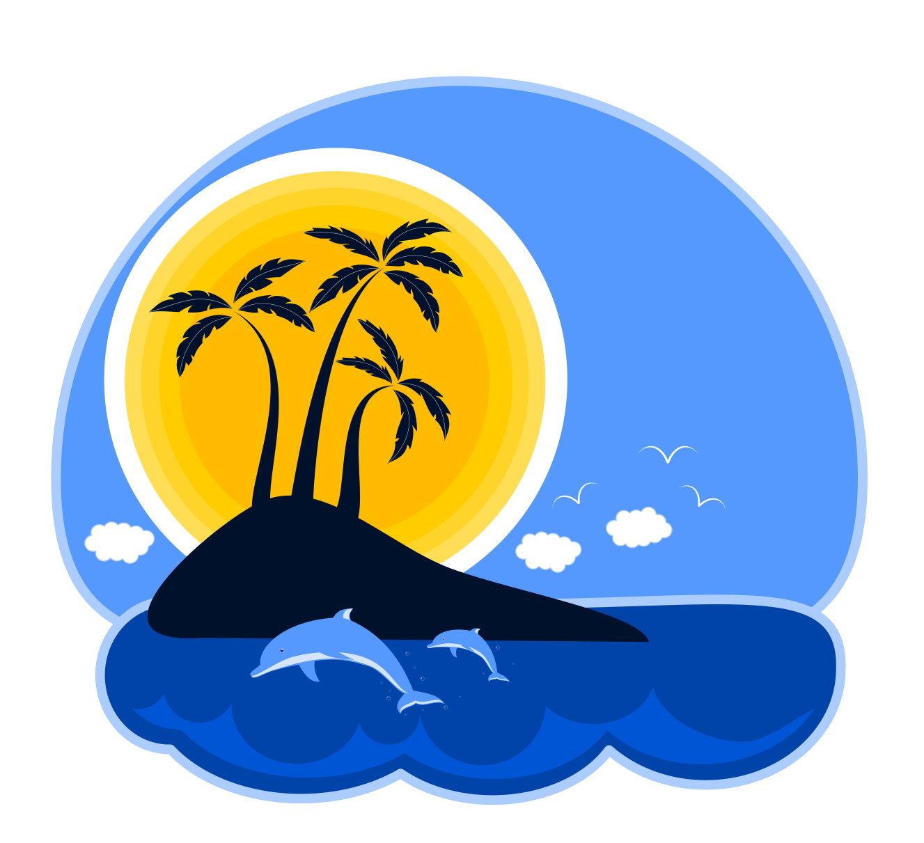 28+ Collection of Tropical Island Clipart Free | High quality, free ... clipart transparent stock
