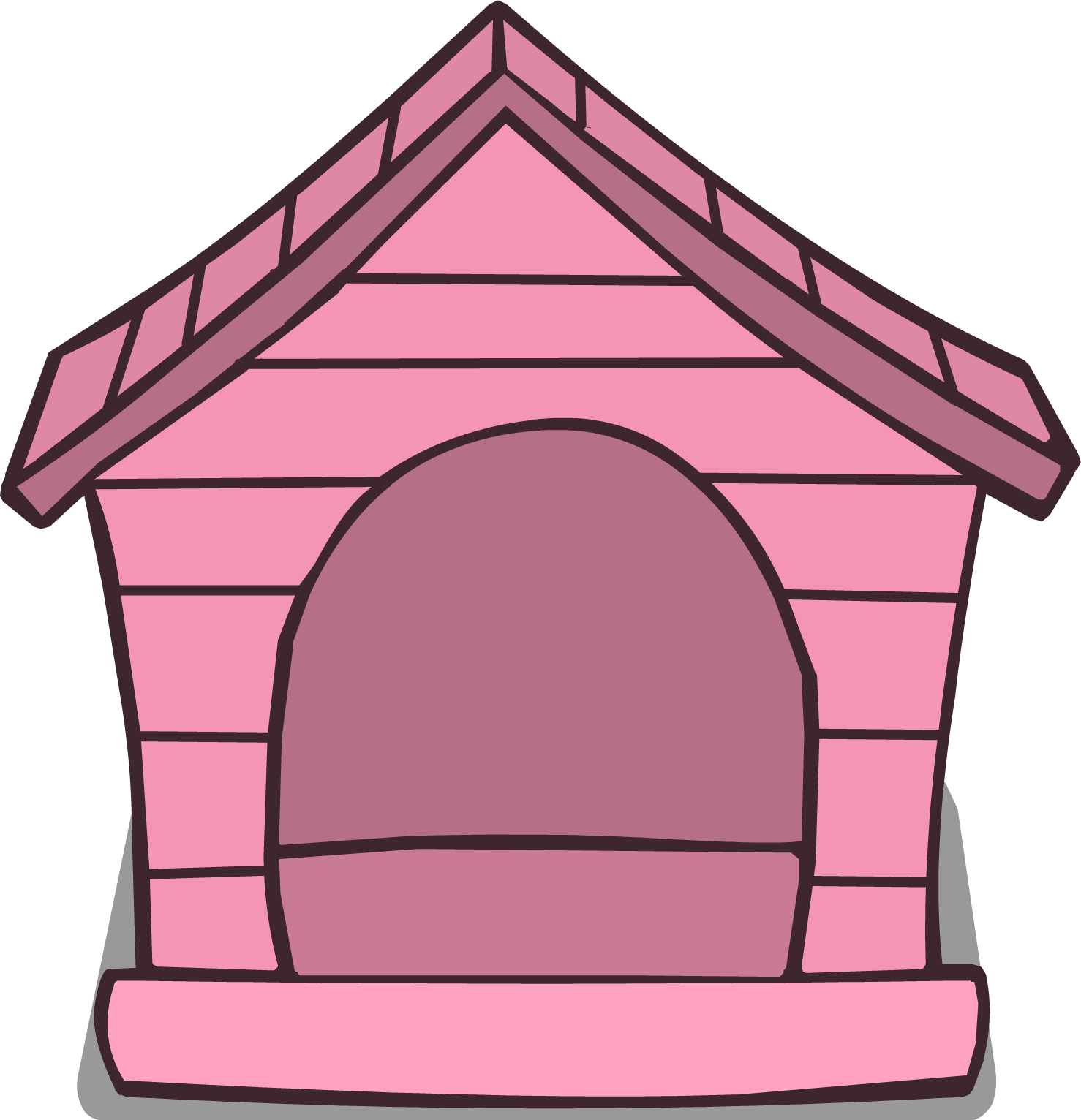 The dog is next to the house clipart jpg stock Pink Puffle House | Club Penguin Wiki | FANDOM powered by Wikia jpg stock